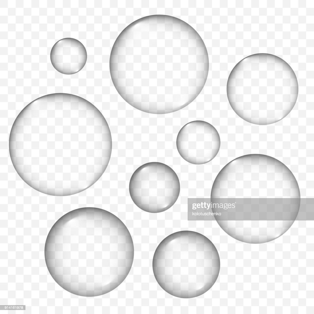 Vector air bubbles texture set isolated