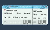Vector Airplane ticket design template.