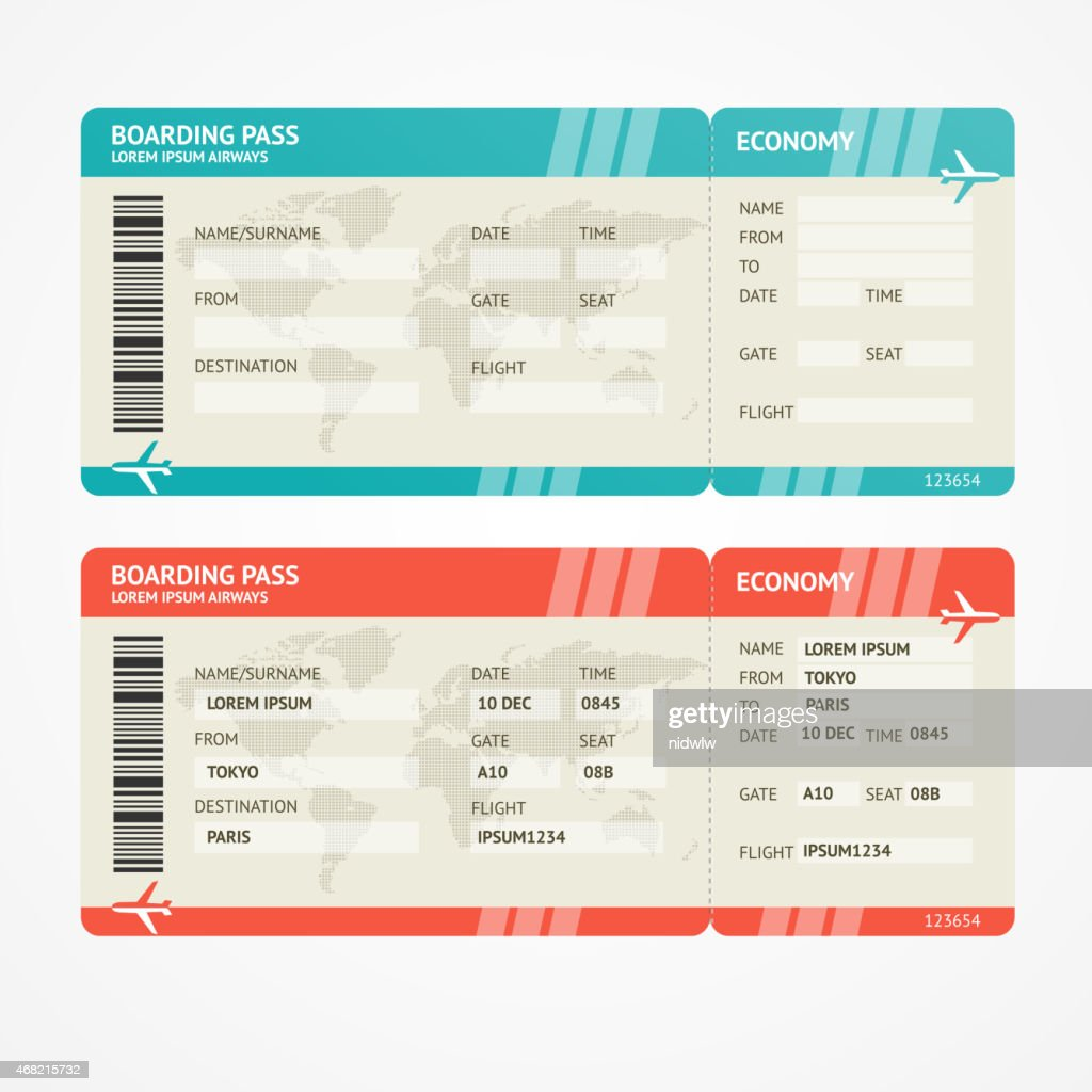 Vector Airplane tickets