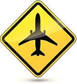 Vector airport diamond sign