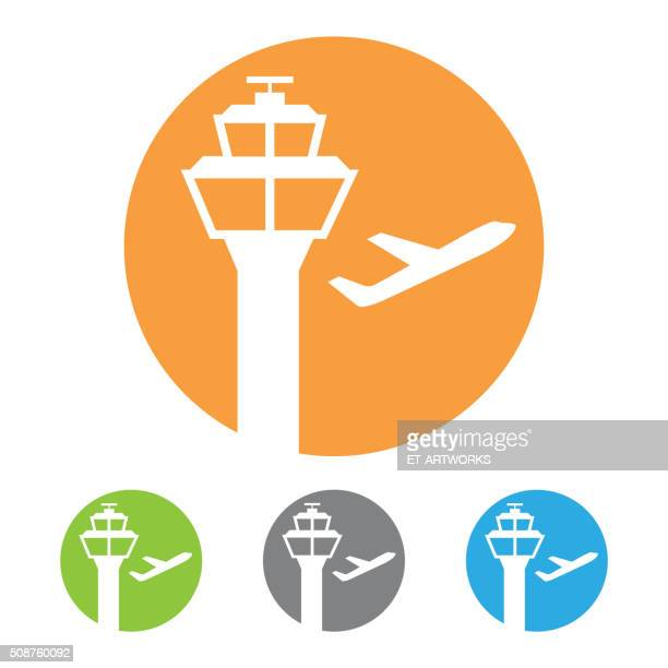 Vector airport tower icon