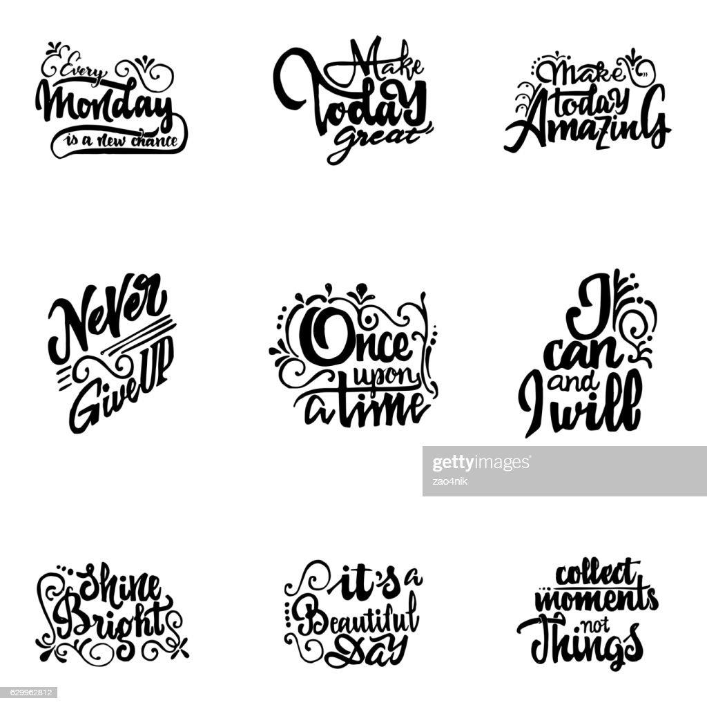 Vector Alphabet. Cyrillic and Latin  . Calligraphic font. Unique Custom Characters