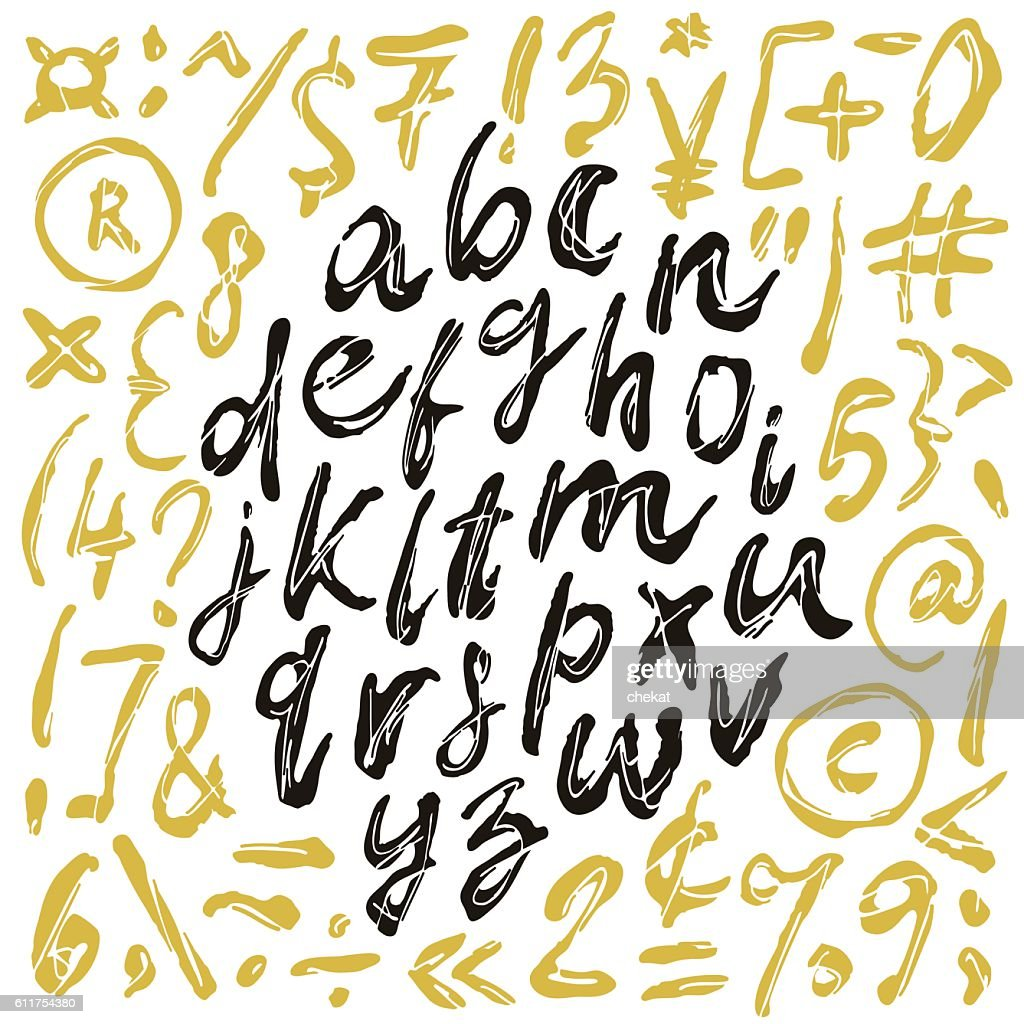 Vector alphabet. Hand drawn letters