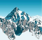 vector alps mountains background
