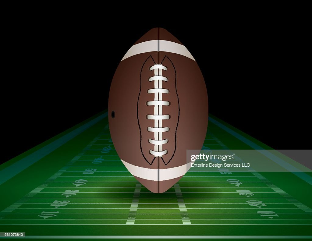 Vector American Football and Field Illustration