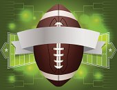 Vector American Football Banner Illustration