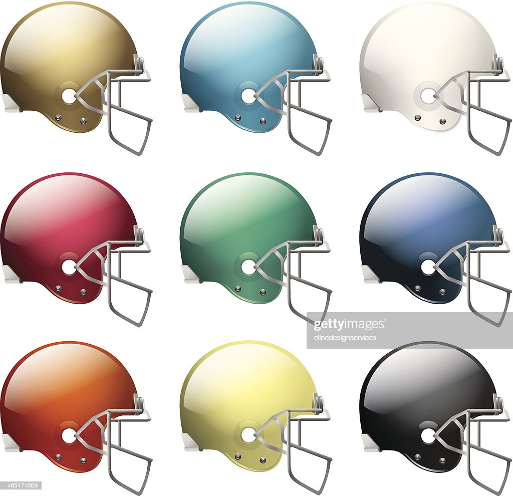 Vector American Football Helmets