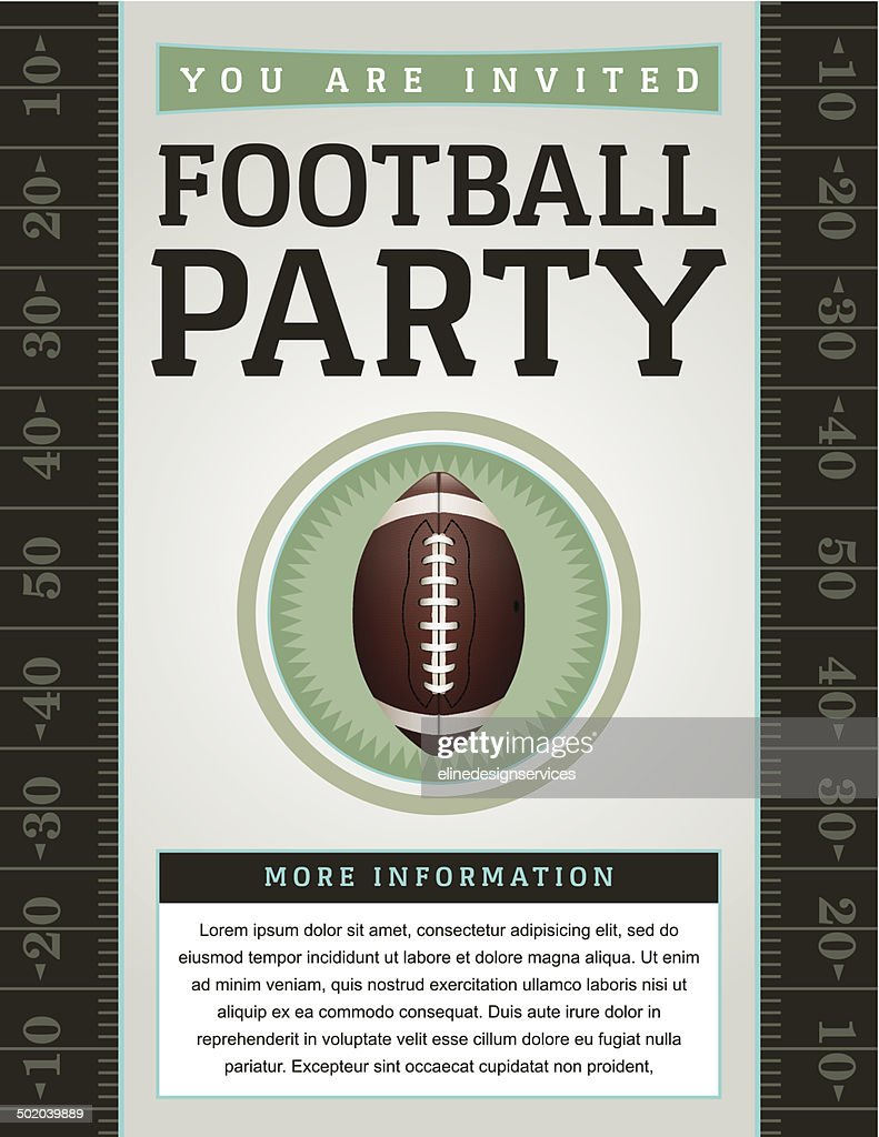 Vector American Football Party Flyer