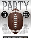 Vector American Football Party Flyer