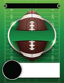 Vector American Football Party Template Illustration