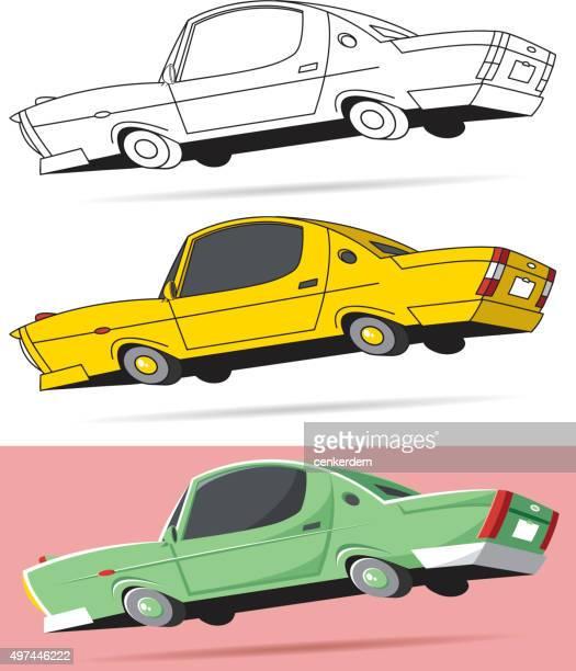 ilustraciones, imágenes clip art, dibujos animados e iconos de stock de vector estadounidense - demolition derby