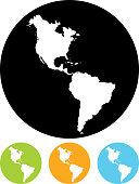 Vector Americas map icon