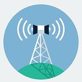 Vector antenna tower icon