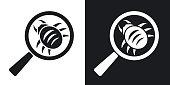 Vector antivirus scanning icon. Two-tone version