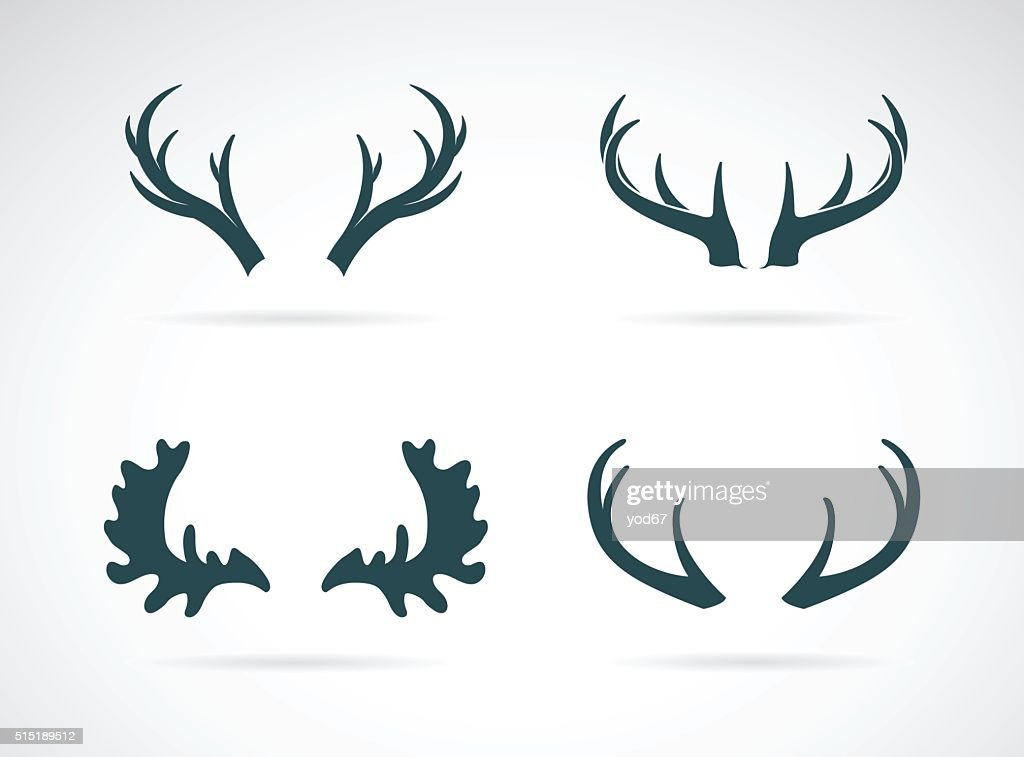 Vector antler icon set