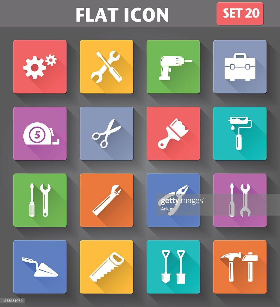 Vector application Tools Icons set