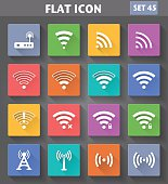 Vector application Wireless and Wifi Icons set