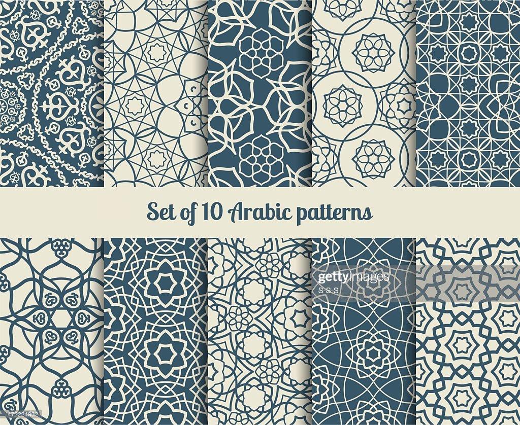 Vector arabic patterns