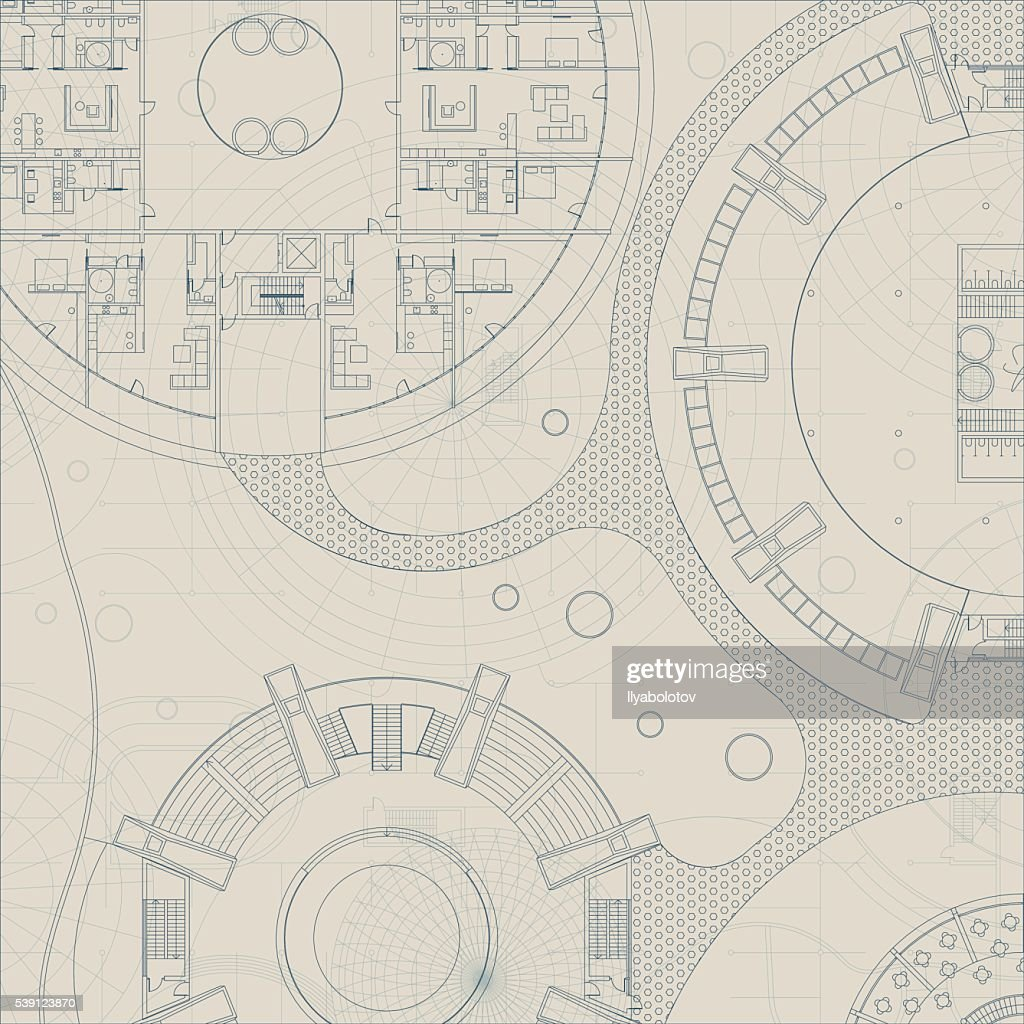 Vector architectural blueprint vector art getty images vector architectural blueprint vector art malvernweather Image collections