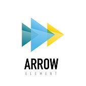 Vector arrow geometric design emblem