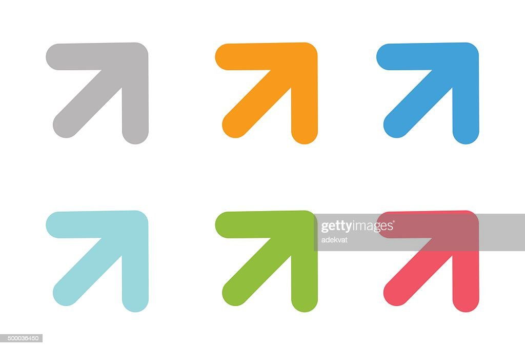 Vector arrow icon abstract template