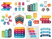 Vector arrows infographic, diagram, timeline graph, presentation, chart. Business startup