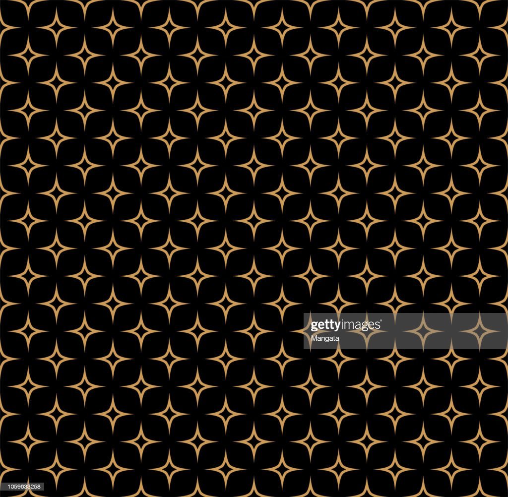 Vector Art Deco Style Seamless Pattern. Abstract Ornament Background.