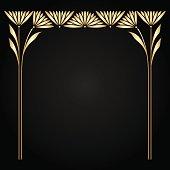 Vector art nouveau frame.