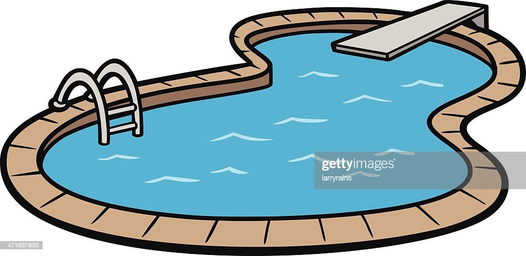 Vector art of an in ground swimming pool