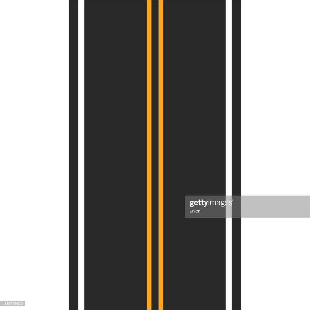 Vector asphalt with markings.