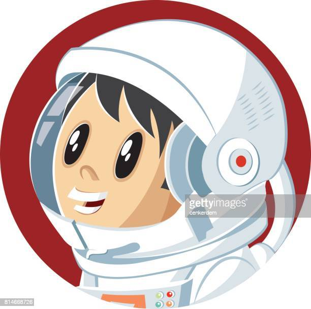 Vector astronaut kid