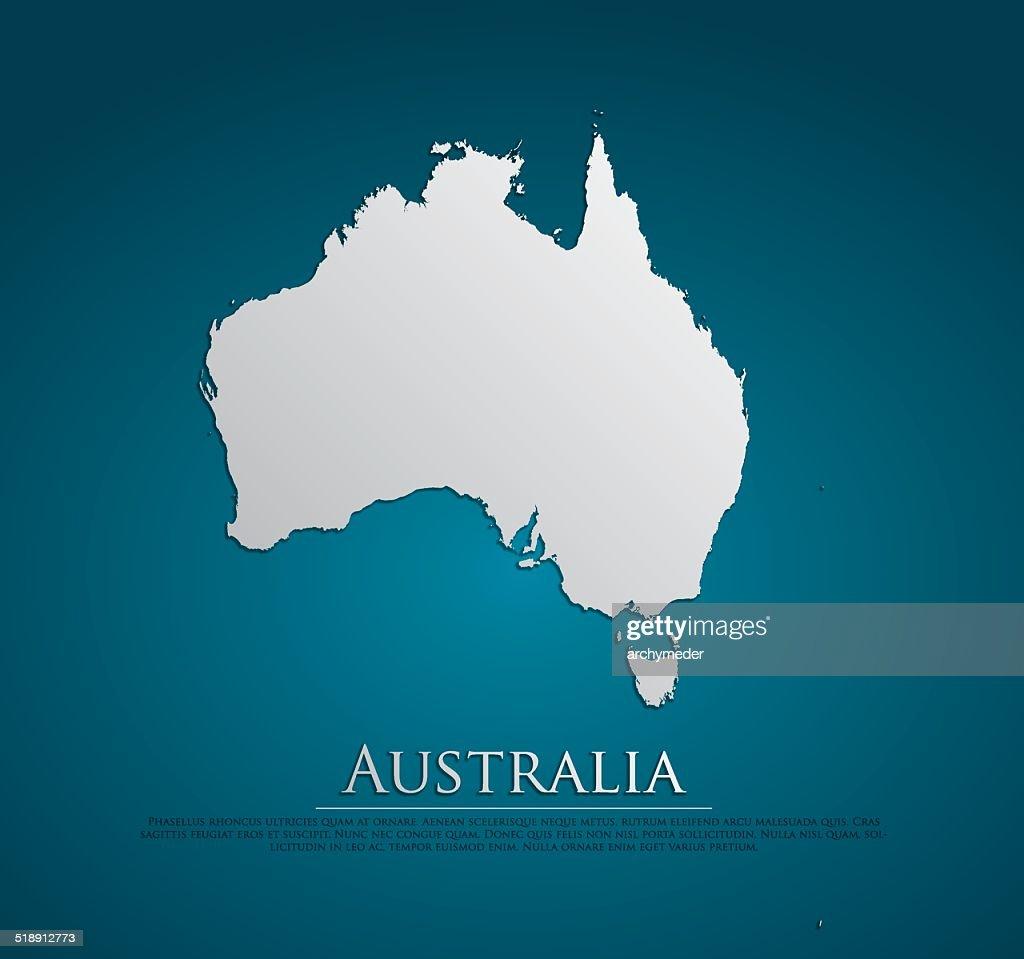 vector Australia Map card paper