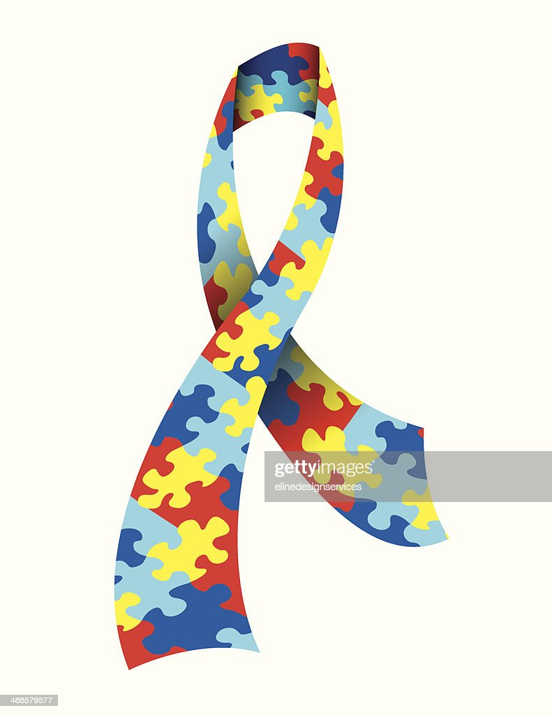 Vector Autism Awareness Ribbon