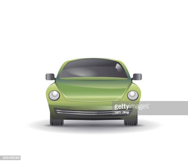 vector auto - compact car stock illustrations, clip art, cartoons, & icons