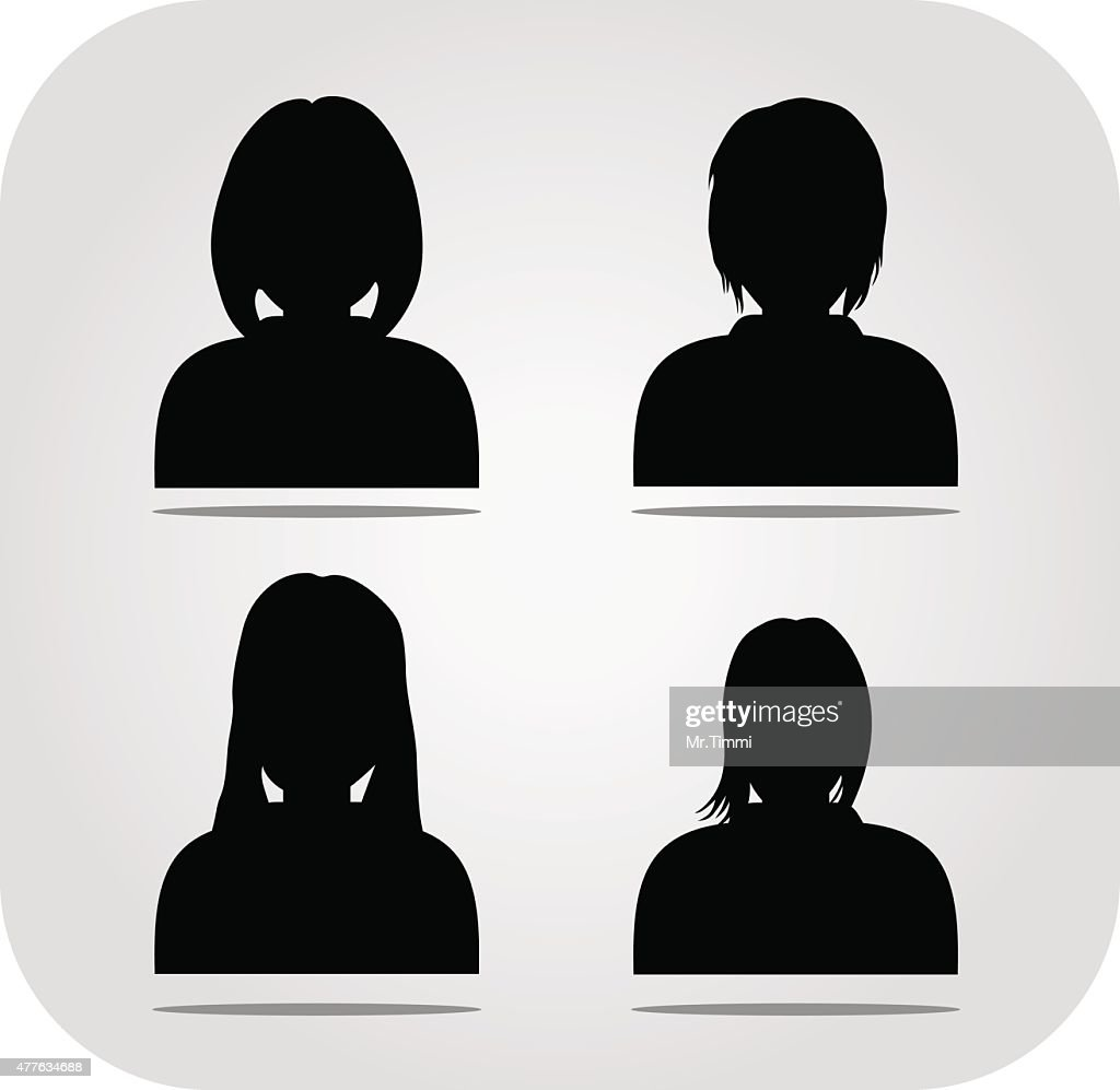 vector avatar, profile icon, head silhouette