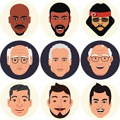 Vector Avatars - Male Faces