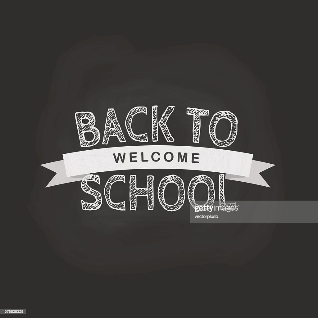 Vector back to school concept in flat style.