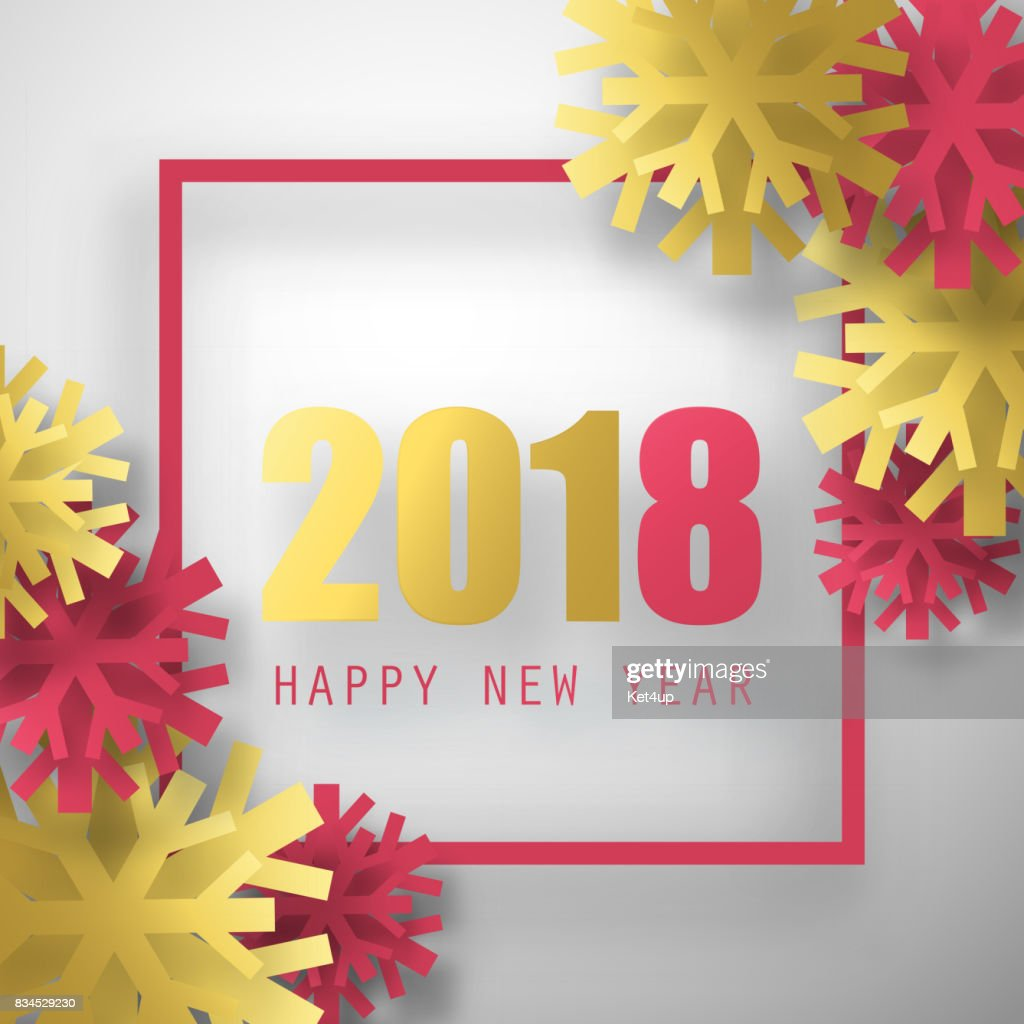 2018 Vector Background Happy New Year Greeting Card Christmas Poster ...