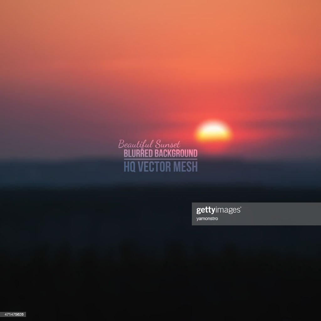 Vector background of blurred sunset