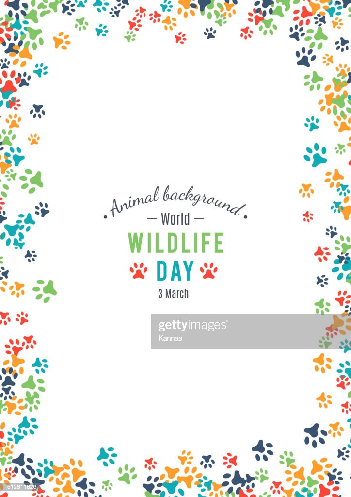 Vector background of world wildlife day