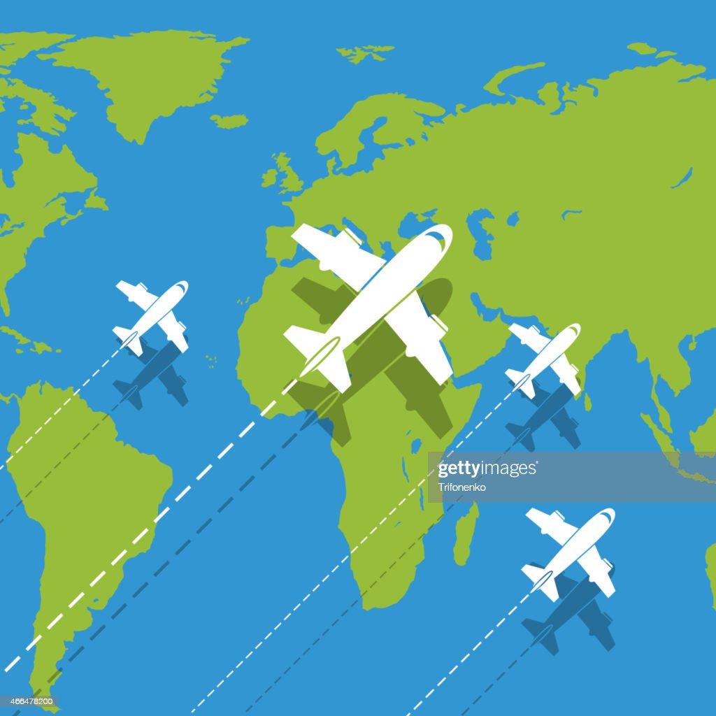 Vector background planes