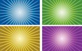 vector background set of gradient radial