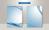 vector background wave and rectangle pattern cover design