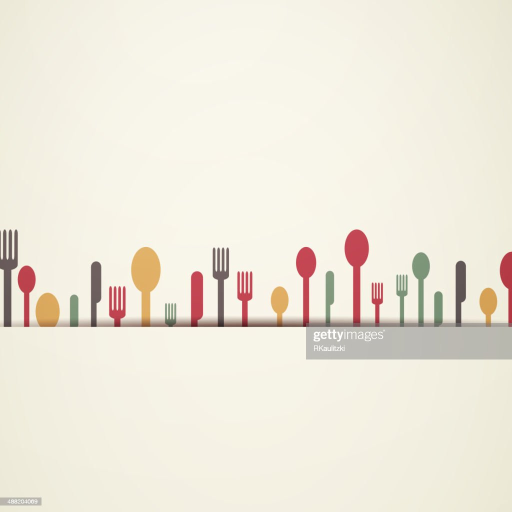Vector Background with Abstract Cutlery