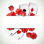 Vector Background with Casino Elements