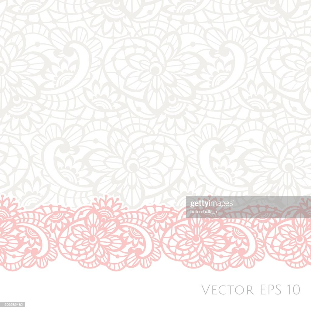 Vector background with floral lace