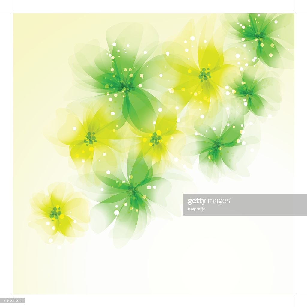 Vector background with flowers : Vector Art