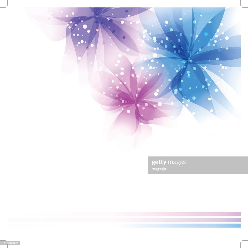 Vector background with pastel flowers : Vector Art