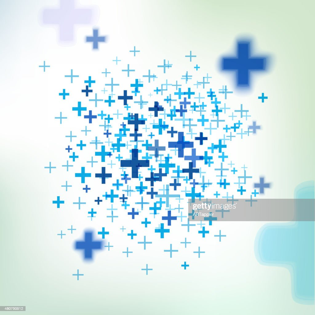 Vector background with pluses