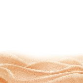 Vector background with sand border